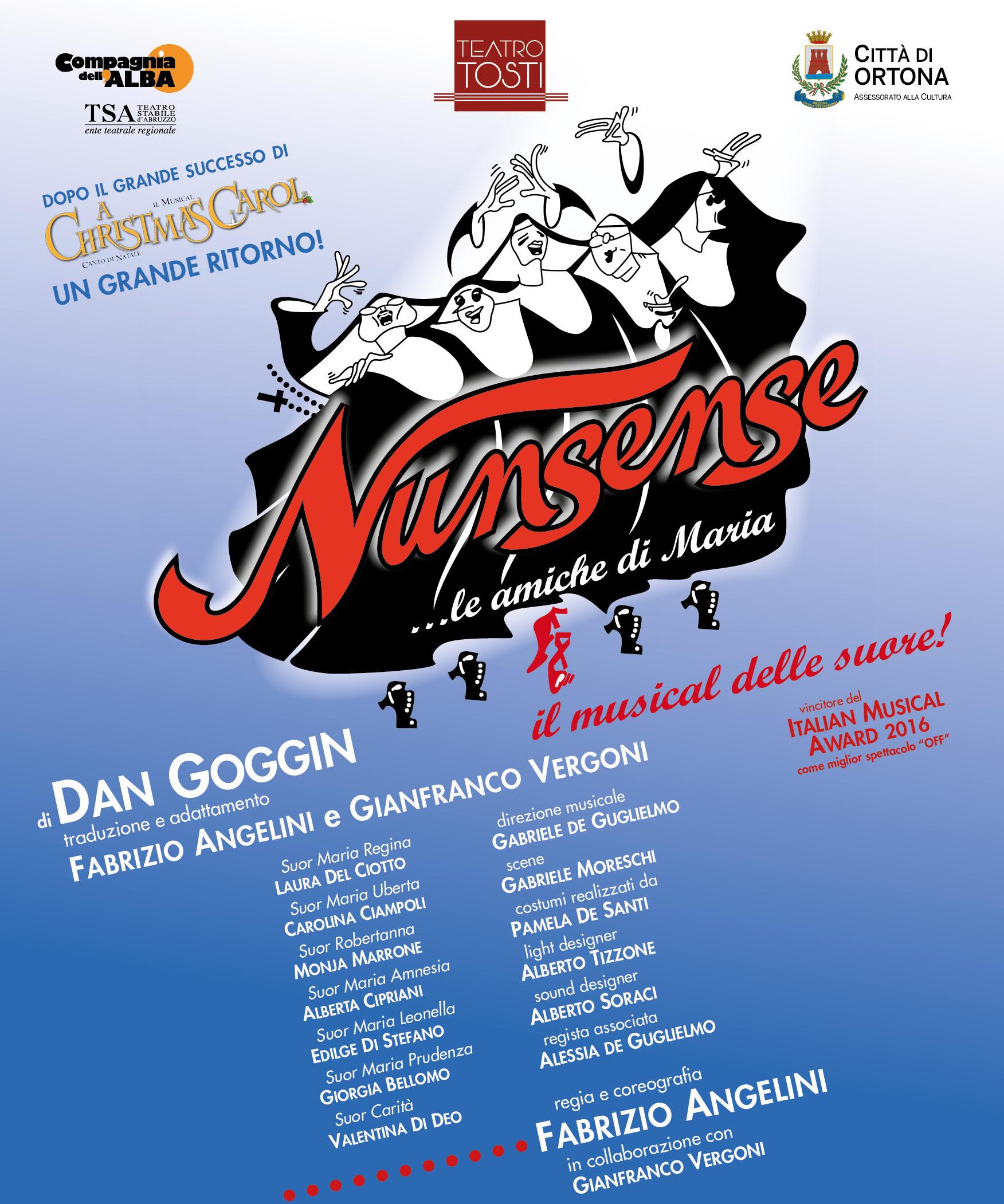 """NUNSENSE – LE AMICHE DI MARIA: LE PREMIATE """"SUORE"""" DELLA COMPAGNIA DELL'ALBA DI NUOVO IN TOUR"""