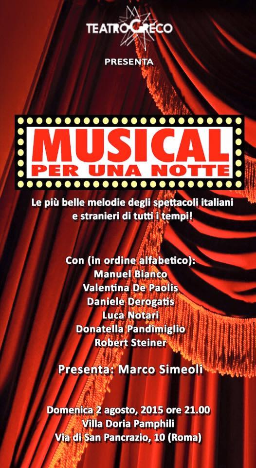 Musical Per Una Notte locandina