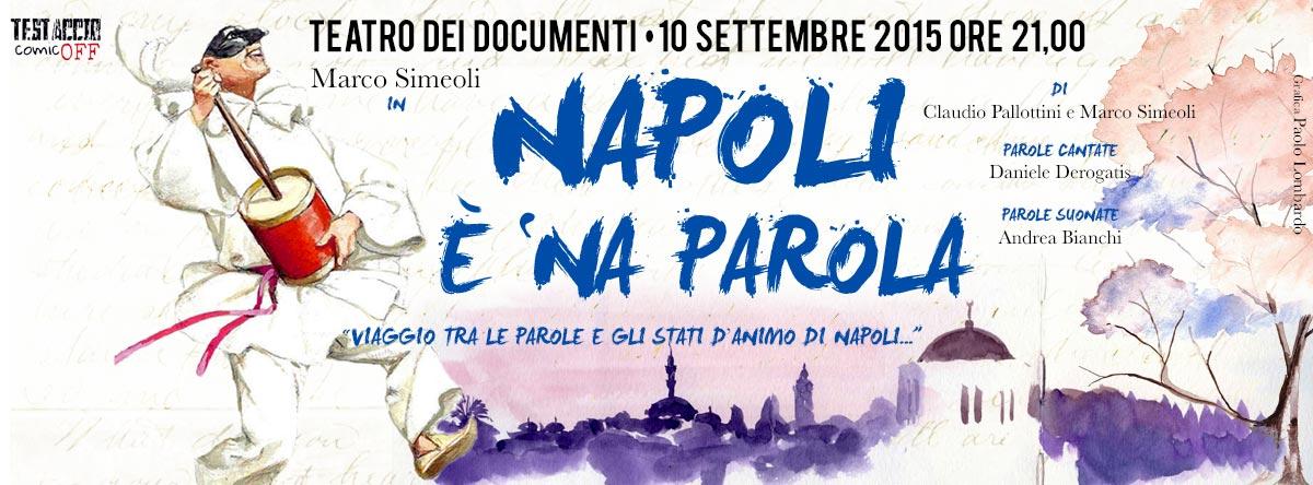 "MARCO SIMEOLI IN ""NAPOLI È 'NA PAROLA"""