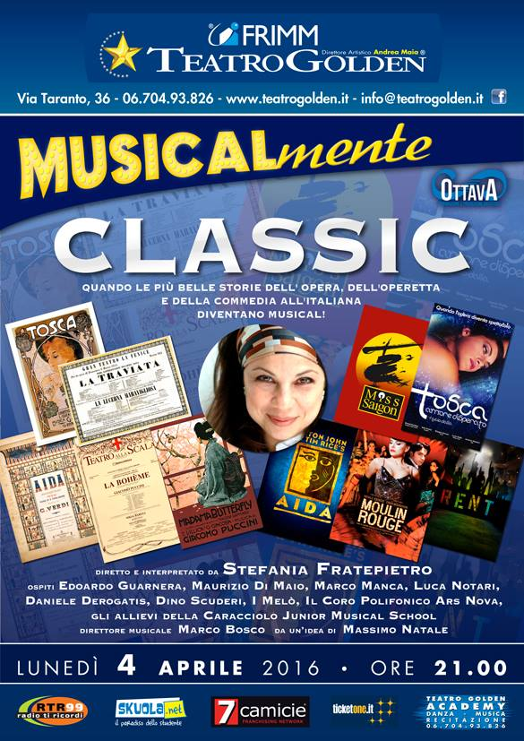 "STEFANIA FRATEPIETRO PROPONE ""MUSICALmente CLASSIC"""