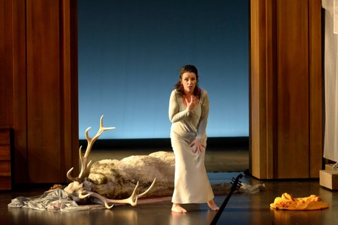 LA DIDONE de Francesco CAVALLI, mise en scene de Clement HERVIEU LEGER, Les Arts Florissants direction de William CHRISTIE Avec : Anna BONITATIBUS(Didon). au Theatre des Champs Elysees du 12 au 20 avril 2012 (Photo by Pascal Gely/ArtComArt)