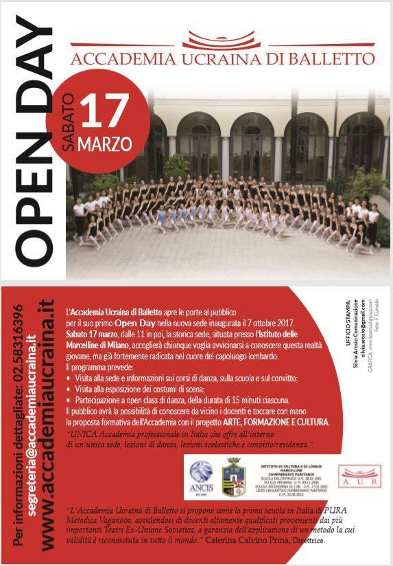 OPEN DAY ACCADEMIA UCRAINA DI BALLETTO