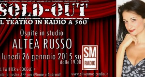 "ALTEA RUSSO OSPITE A ""SOLD OUT"" SU SILVERMUSIC RADIO"