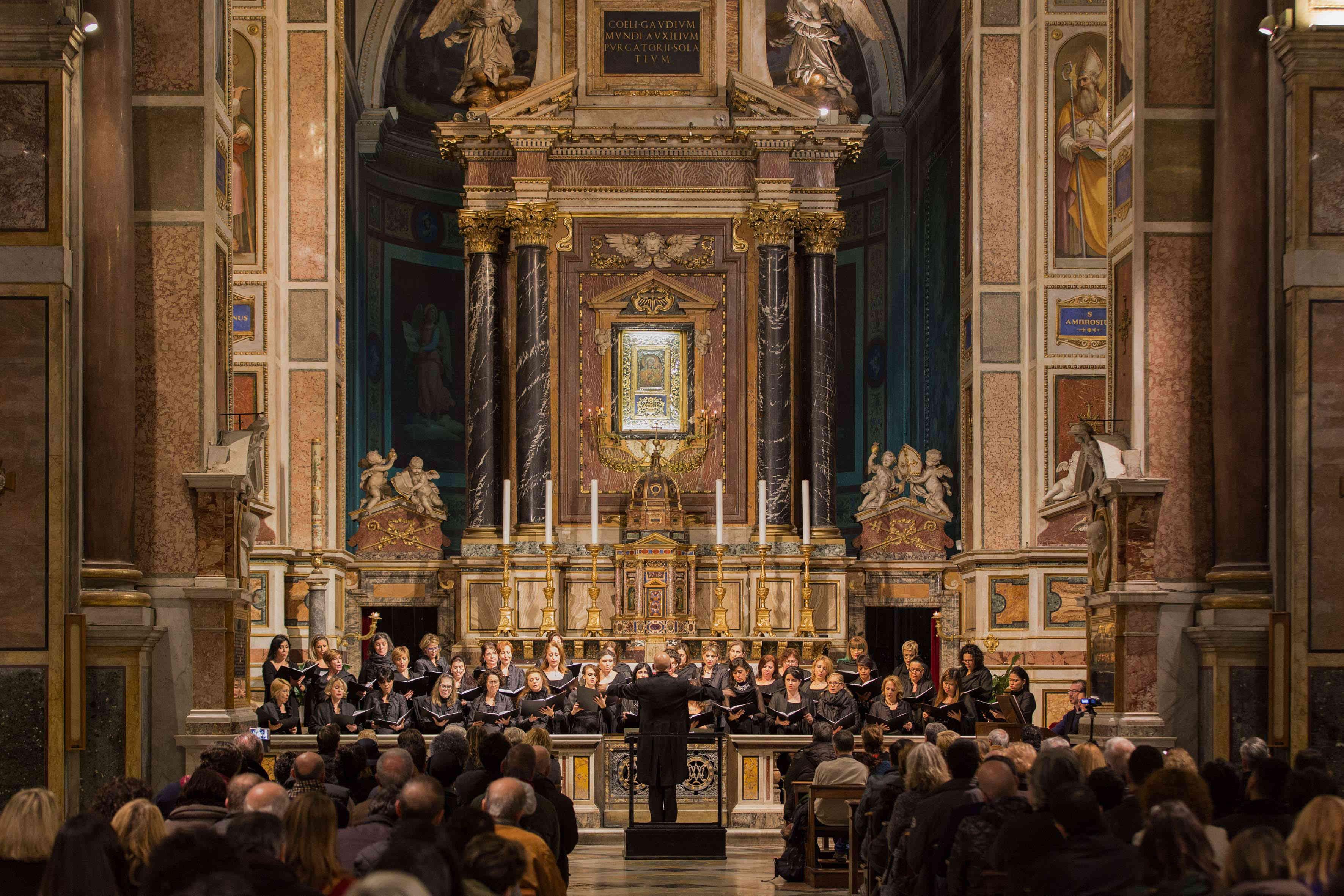 Concerto per il Giubileo,coro femminile dell'Opera di Roma nella basilica di Sant'Agostino,dir.Maestro Gabbiani®Yasuko Kageyama-Opera Roma 2015-16_4369_low