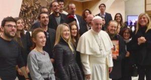 TED NEELEY E IL CAST DI JESUS CHRIST SUPERSTAR, DA STASERA AL SISTINA, HANNO INCONTRATO PAPA FRANCESCO