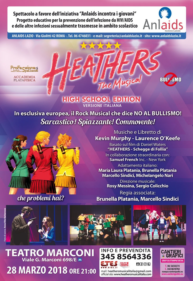 """HEATHERS THE MUSICAL, HIGH SCHOOL EDITION"" PER DIRE NO AL BULLISMO!"