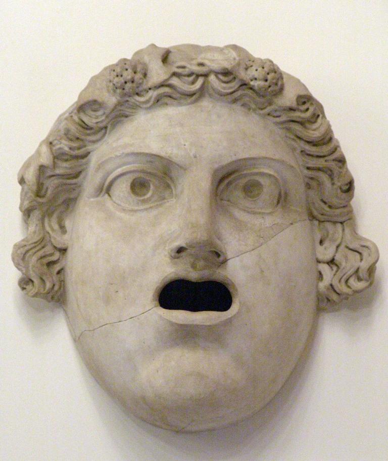 Maschera decorativa del Teatro di Marcello