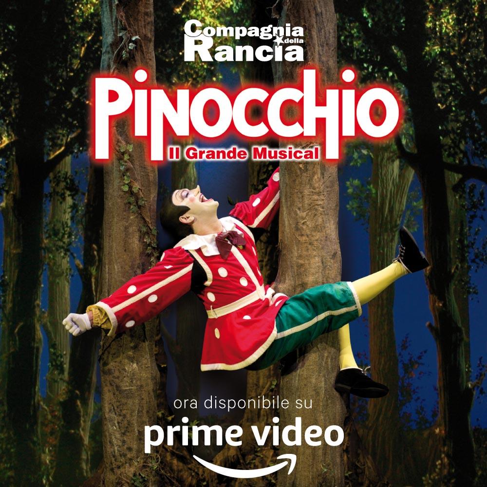 """COMPAGNIA DELLA RANCIA: """"PINOCCHIO"""" CON MANUEL FRATTINI, SU AMAZON PRIME VIDEO. È LA PRIMA VOLTA PER UN MUSICAL IN ITALIA"""