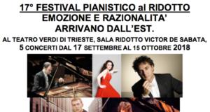 TRIESTE – 17° FESTIVAL PIANISTICO AL RIDOTTO