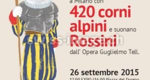ROSSINI SUONATO DA 420 CORNI ALPINI: LA SVIZZERA TENTA IL RECORD A MILANO