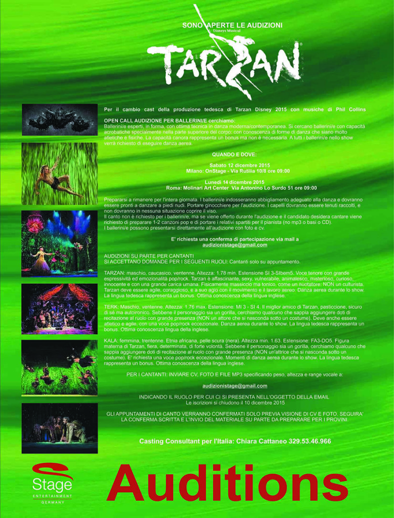 Tarzan Audition 2015 modrid