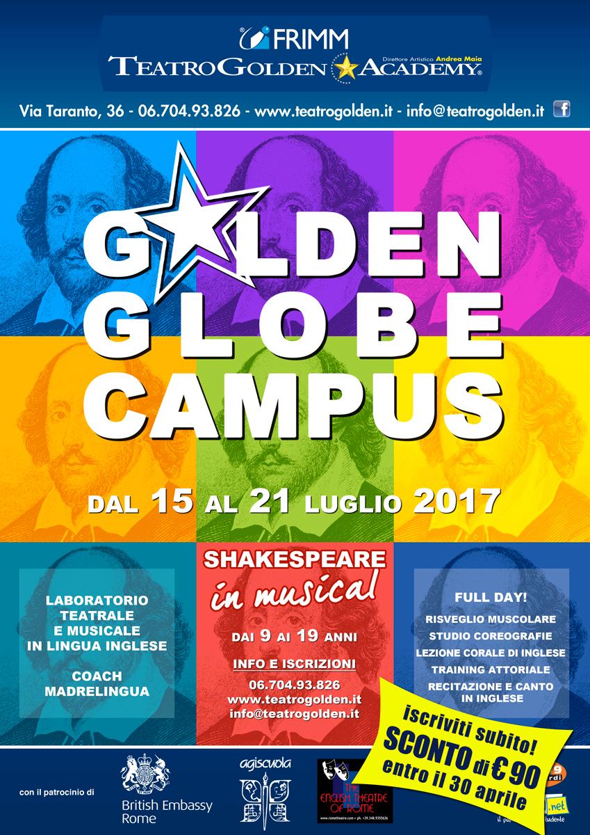 GOLDEN GLOBE CAMPUS: SHAKESPEARE IN MUSICAL. LABORATORIO TEATRALE E MUSICALE IN INGLESE