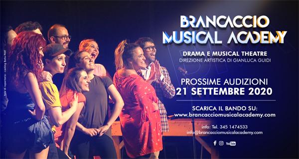 BMA – BRANCACCIO MUSICAL ACADEMY: NUOVE AUDIZIONI IL 21 SETTEMBRE