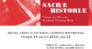 SACRAE HISTORIAE – CANTATE PER ALTO SOLO DI J. S. BACH