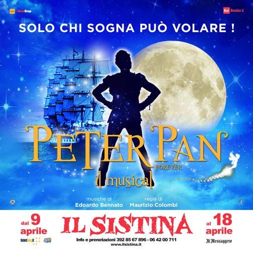 PETER PAN, IL MUSICAL DI COLOMBI E BENNATO, CON MARTHA ROSSI E, NEL RUOLO DI PETER, CARLOTTA SIBILLA