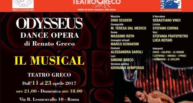ODYSSEUS DANCE OPERA DI RENATO GRECO, L'ODISSEA CON LE MUSICHE DI DINO SCUDERI, DI NUOVO IN SCENA