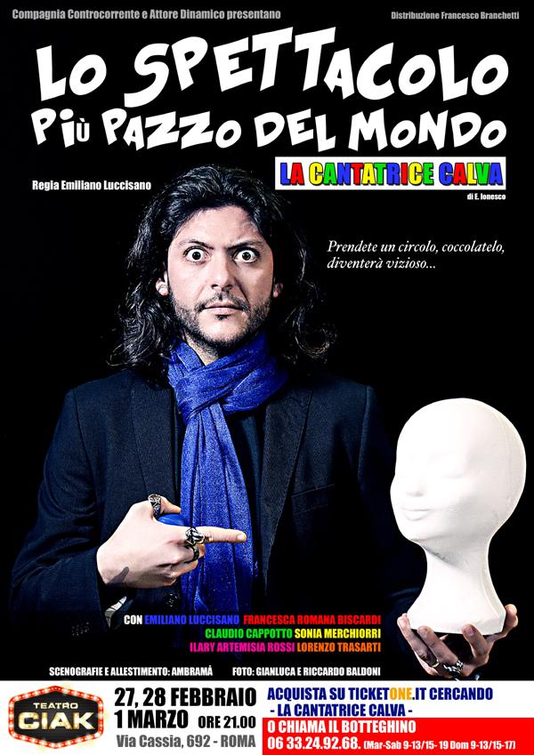 """""""LO SPETTACOLO PIÙ PAZZO DEL MONDO"""": LUCCISANO E LA SUA VERSIONE DE """"LA CANTATRICE CALVA"""""""