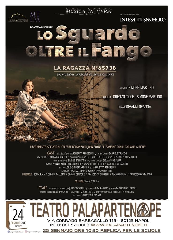 """""""LO SGUARDO OLTRE IL FANGO – LA RAGAZZA N°65738"""" DI MARTINO E CIOCE, TORNA AL PALAPARTENOPE"""