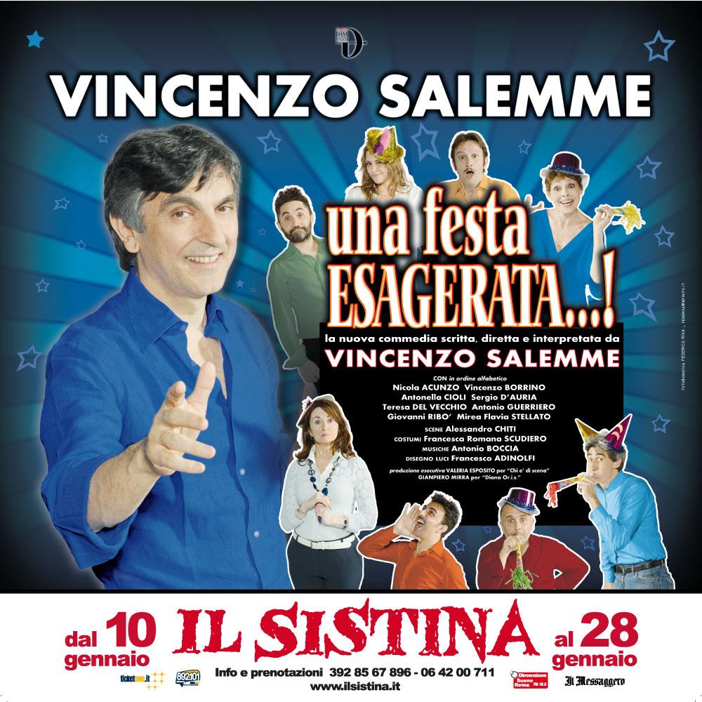 """VINCENZO SALEMME TORNA AL SISTINA CON """"UNA FESTA ESAGERATA… !"""""""