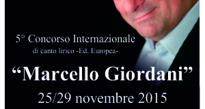 """5° CONCORSO LIRICO INTERNAZIONALE """"MARCELLO GIORDANI"""""""
