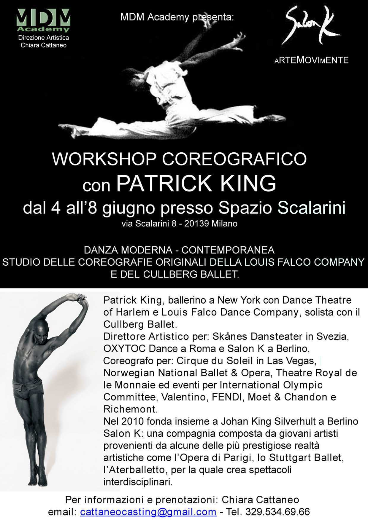 WORKSHOP COREOGRAFICO CON PATRICK KING